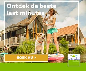 banner landal lastminutes hond banner