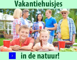 vakantiehuisjes in de natuur banner